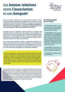 Bonnes relations associations banque